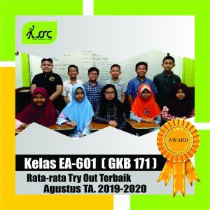 Kelas Peraih Nilai Rata-rata Terbaik Agustus 2019