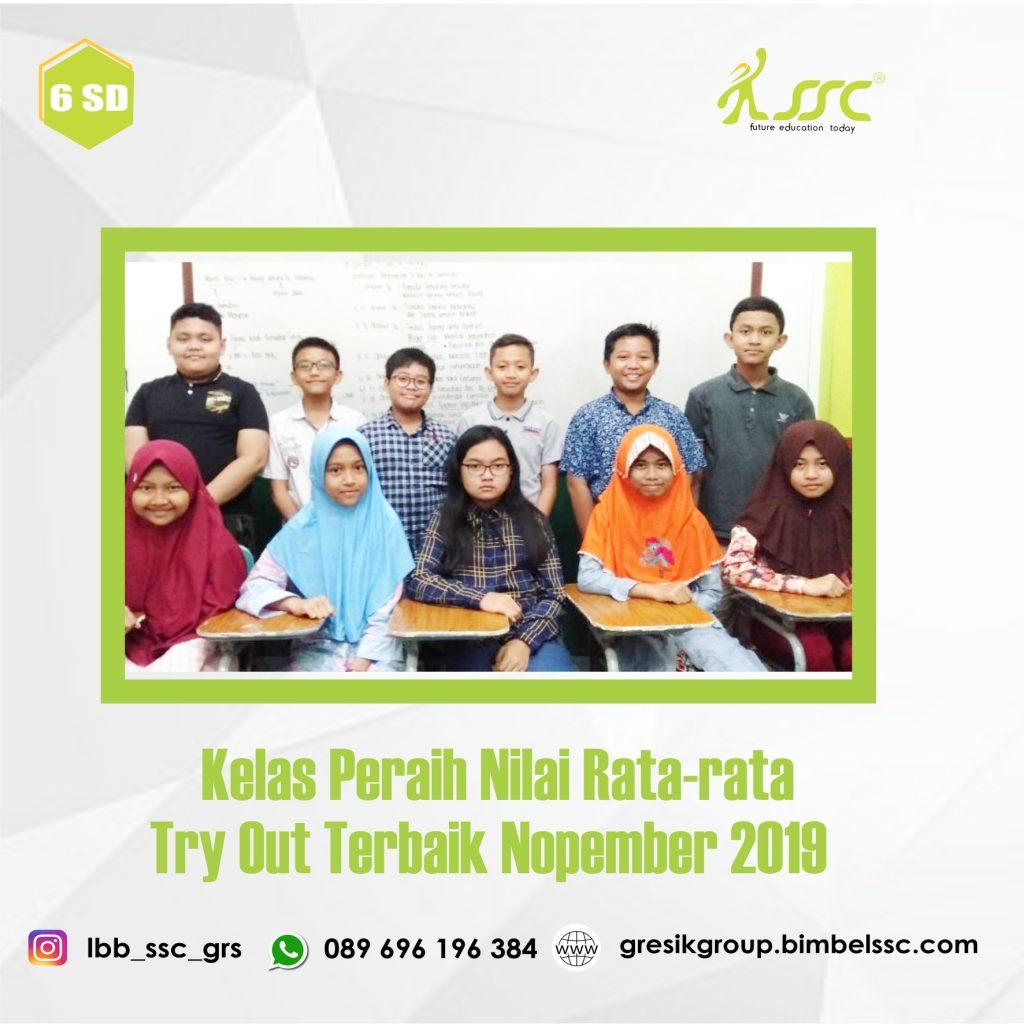 Kelas Peraih Nilai Rata-rata Terbaik Nopember 2019